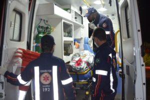 após colidir em ciclista condutor se evade do local na BR-359,em Coxim